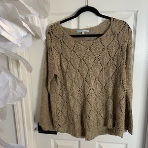Tan detailed Knit sweater